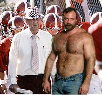 "Big, Gay Hairy Man Claims Paul ""Bear"" Bryant Earned Name In The Bedroom"